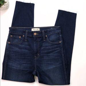 High Waisted Madewell Skinny Jeans Size 28